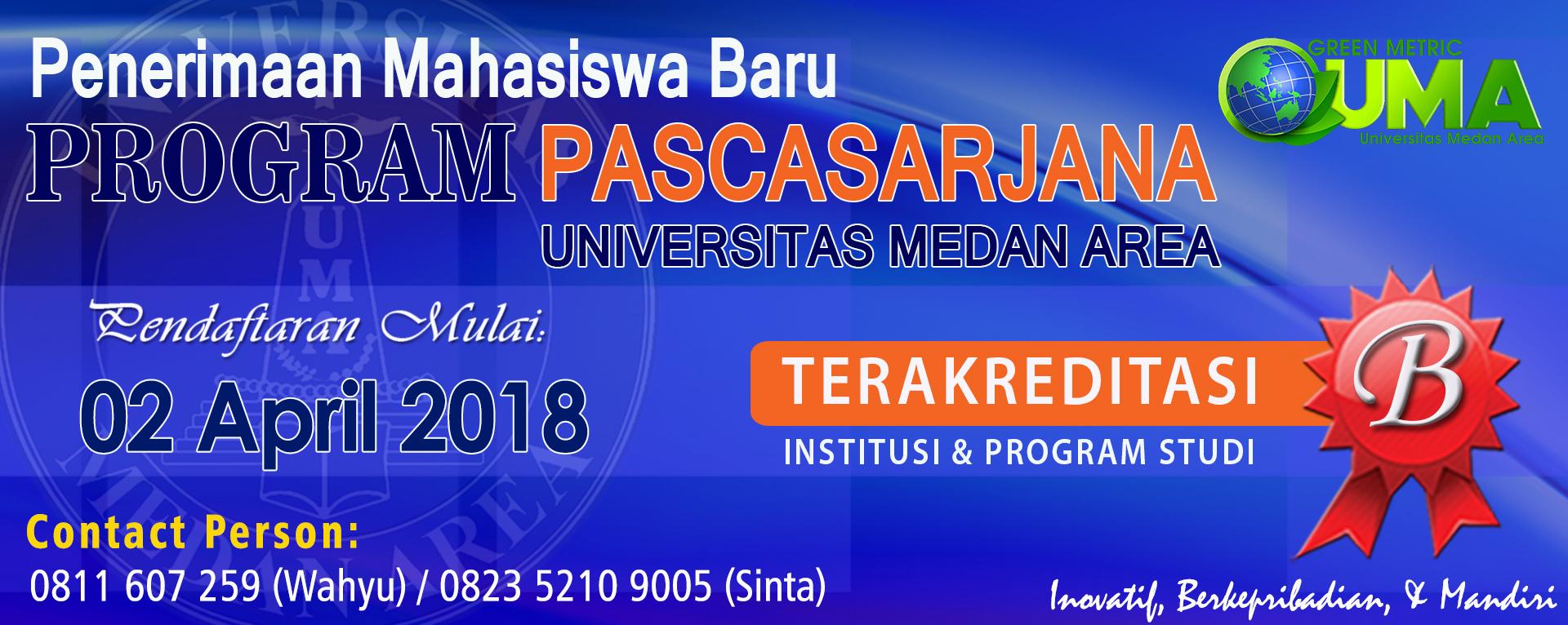 PMB Pascasarjana TA 2018/2019