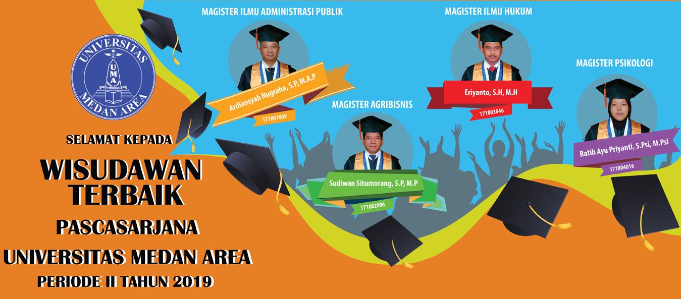 Wisudawan Terbaik Program Magister Universitas Medan Area Periode II Tahun 2019